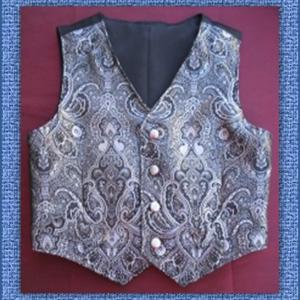 Vest in Black & Silver