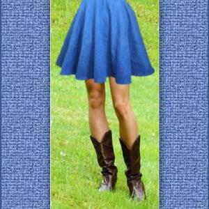Denim Mini Circle Skirt