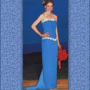 Denim Pencil Skirt shown with Sophie Corset