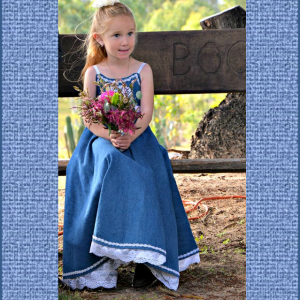 Denim Flower Girl Dress