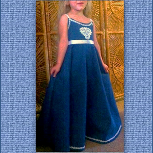 Kaci denim flower girl dress