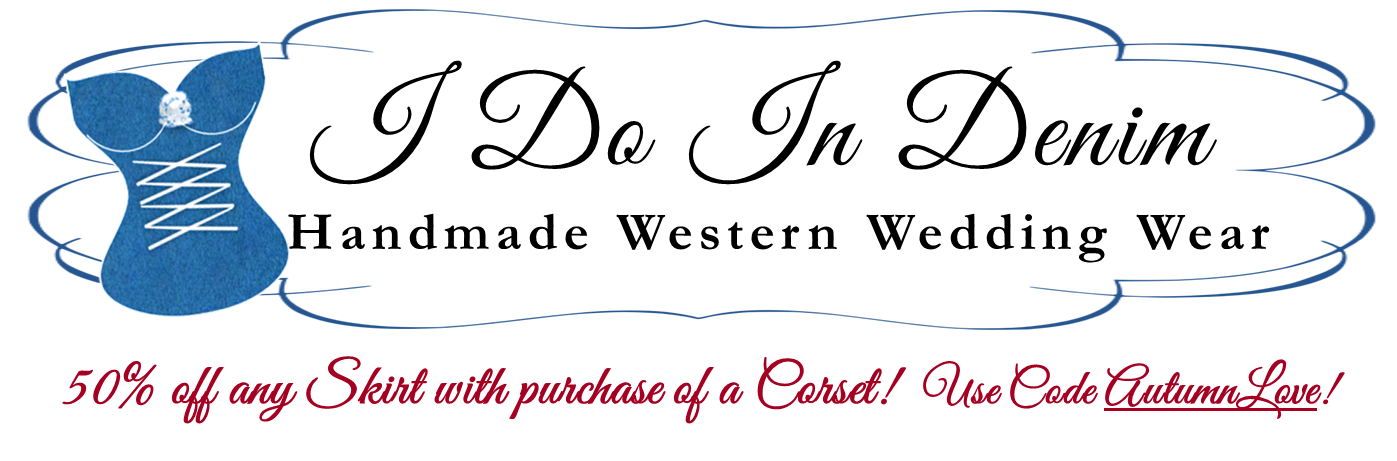 I Do In Denim Western Wedding Wear